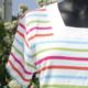 Marinière - col carré - multi couleur claire - Le Petit Breton